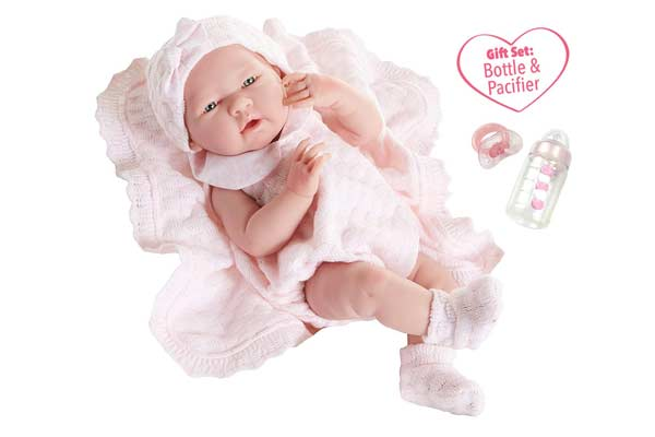 JC Toys La Newborn Pretty in Pink Baby Doll