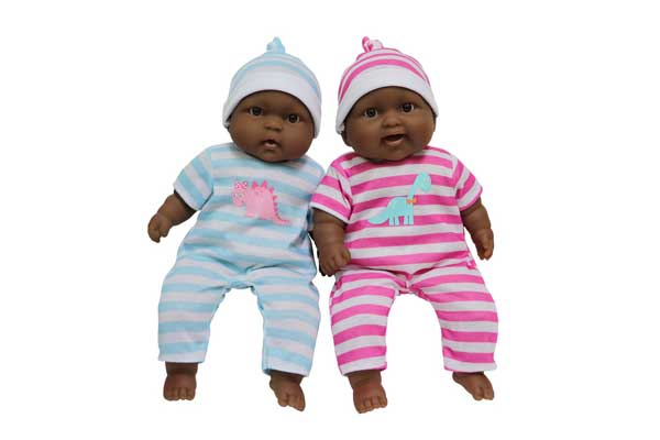 JC Toys Black Twin Cuddle Dolls