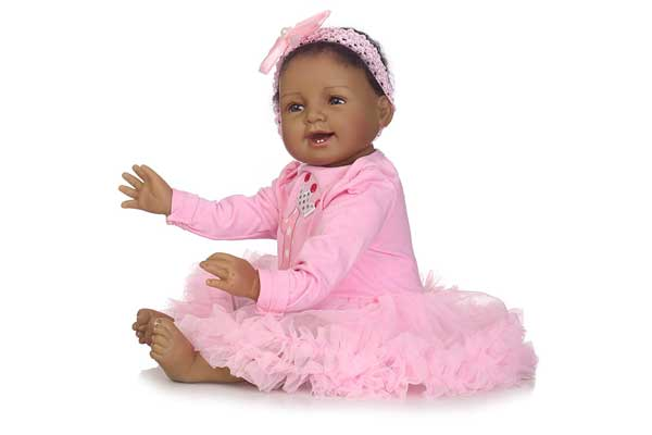 Pinky Silicon Reborn Princes Black Baby Doll