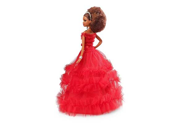 Red Dress Barbie African Doll