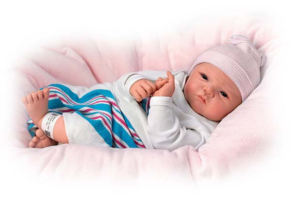 Sandy Faber Welcome To The World Newborn Baby Girl Doll